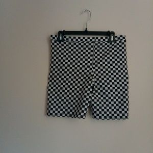 Vans Shorts - Nwot vans Urban outfitters checkered biker shorts da1a2f24f